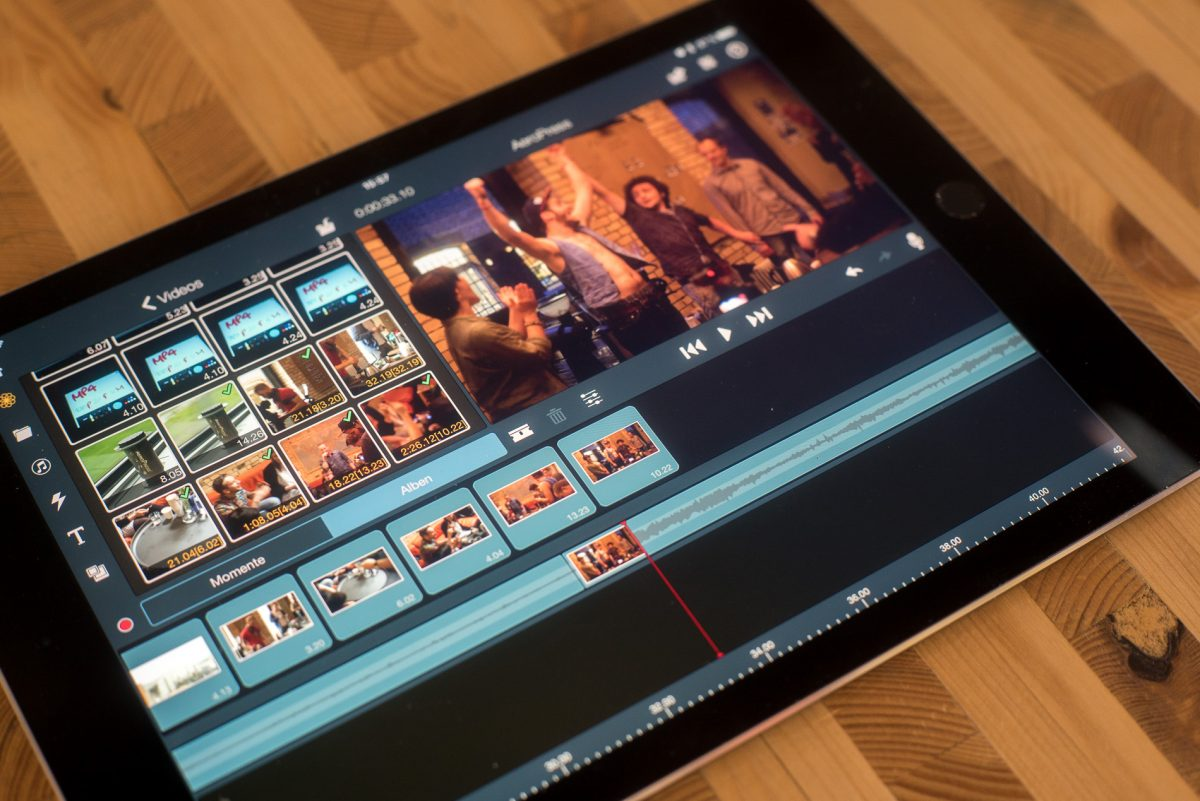 Video Editing auf dem iPad Pro 9.7""