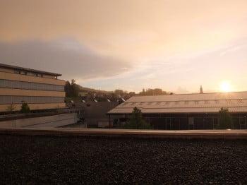 Flawil: Sonnenuntergang mit Regen