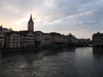 Zürich im goldigen Licht