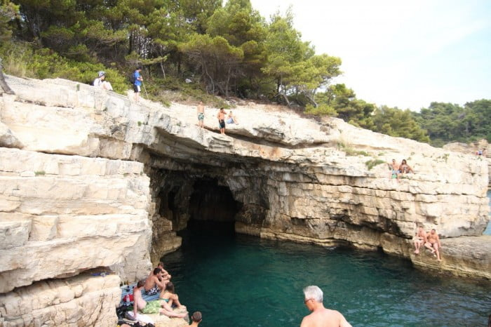 Kroatien 2013 - Klippenspringen