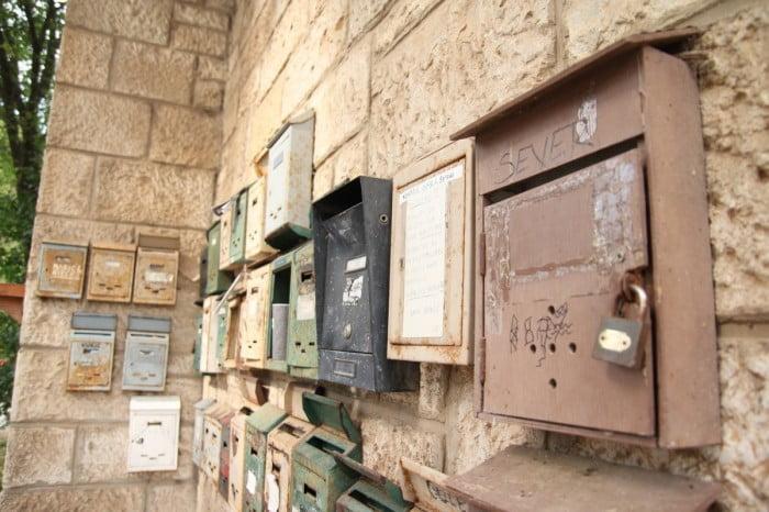 Kroatien 2013 - Briefkästen bei Stoja