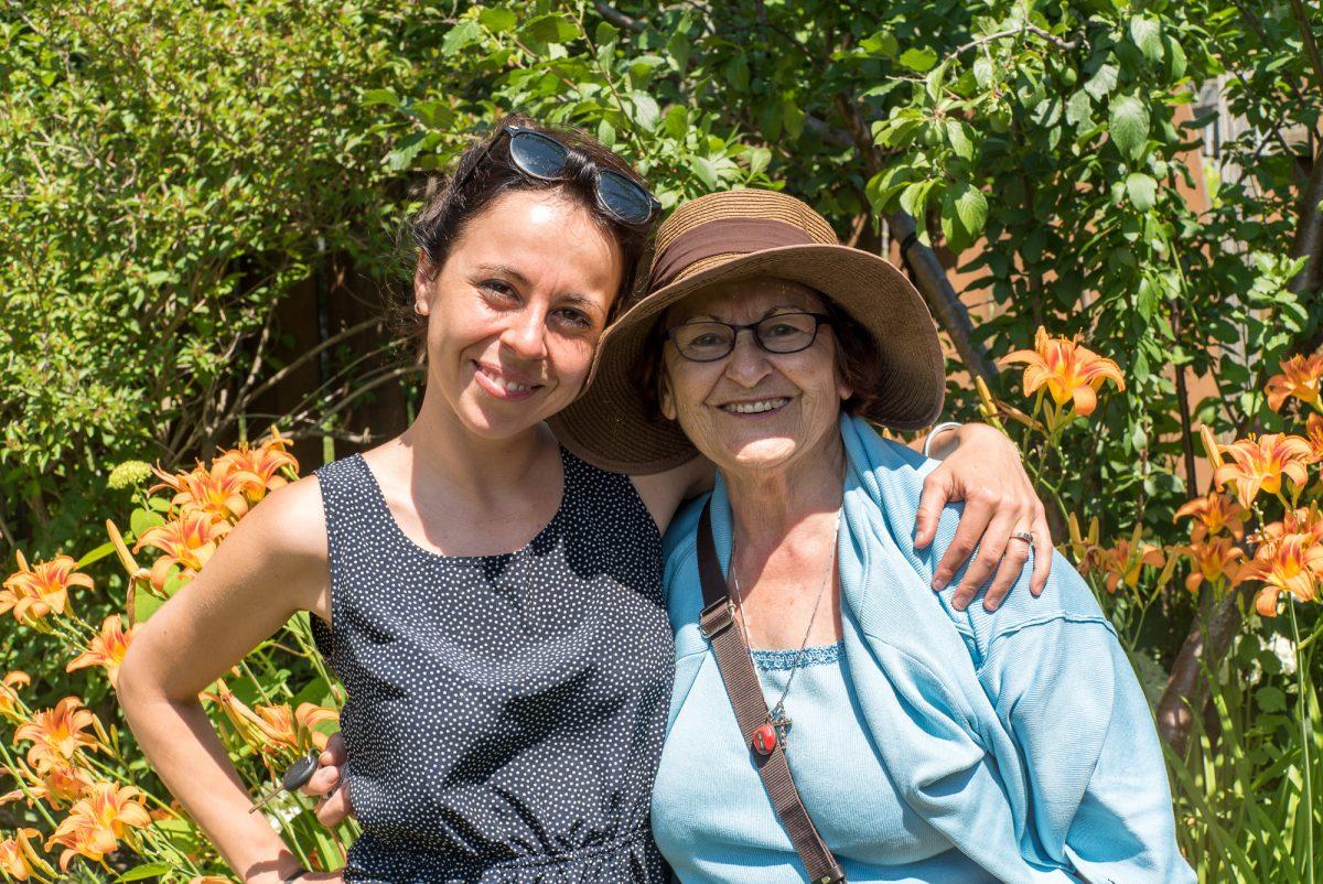 Franca und unsere Gastmutter in Montréal