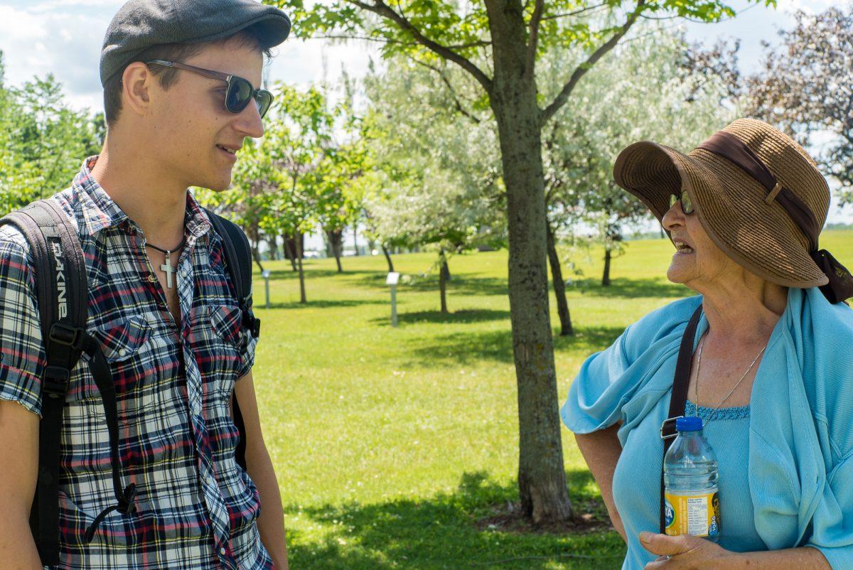 Ich und unsere Gastmutter in Montréal