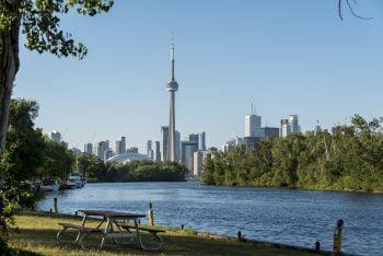 Toronto Islands mit Blick auf Skyline