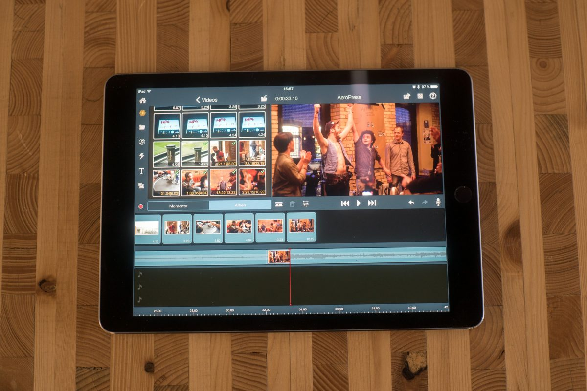 "Pinnacle Studio Pro auf dem iPad Pro 9.7"""