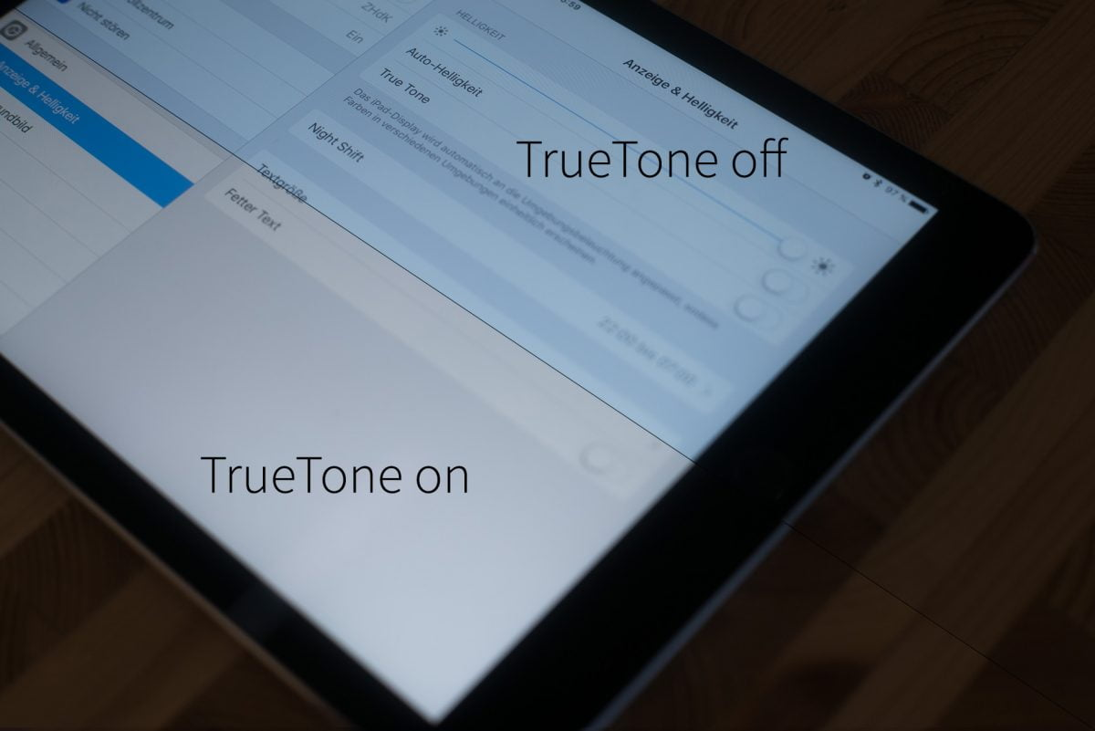 TrueTone Display Unterschied