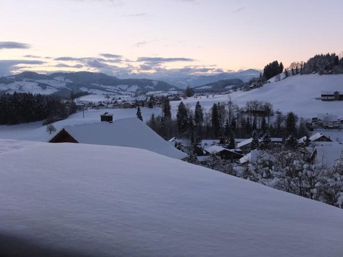 Winterlandschaft in Mosnang