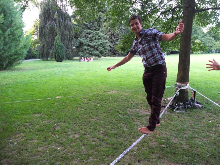 Slacklining am Starbucks Event