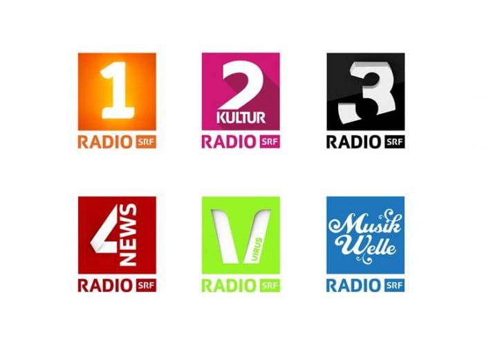 Neue Logos von den SRF-Radios