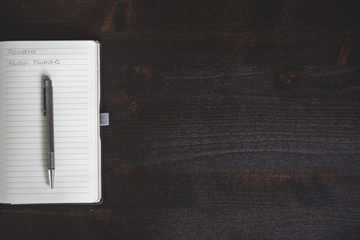 So bitte nicht: Passwörter in Notizblöcken