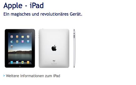 iPad Swisscom